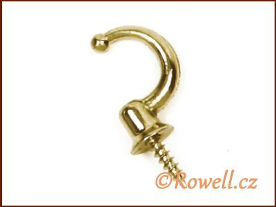 H1m Háček zlatý s vrutem rowell