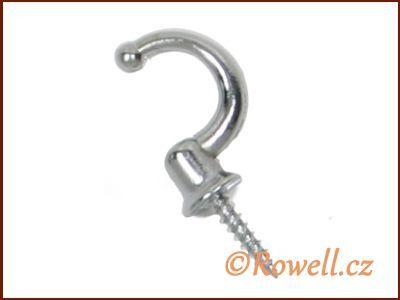 H1m Háček stříbrný s vrutem rowell