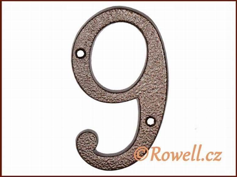 C4 Číslo 145mm kom.měď '9' rowell