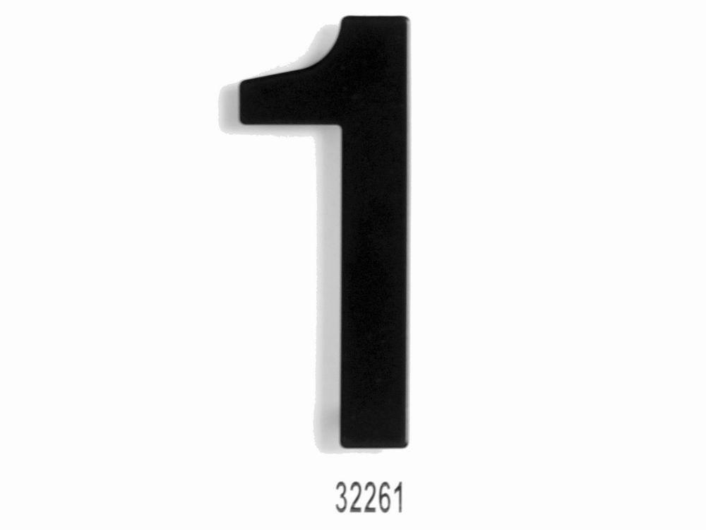 """C152 Číslice 152 mm -černá mat """"1"""" 62"""