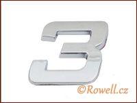 C26 Číslice 26mm '3' rowell