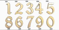 "C125 Číslice 125mm bronz ""4"" 62"