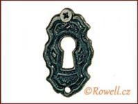 SK6 Štítek klíč černý rowell