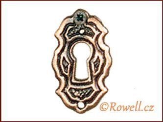 SK6 Štítek klíč staroměď rowell