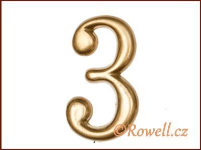 C2 Čísélko zlaté '3' rowell
