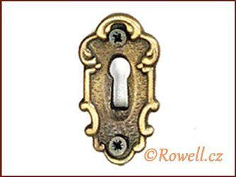 SK1 Štítek klíč staromosaz rowell