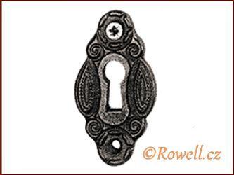 SK2 Štítek klíč černý rowell