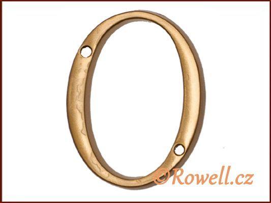 C1 Číslice 80mm zlatá '0' rowell