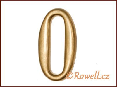 C2 Čísélko zlaté '0' rowell