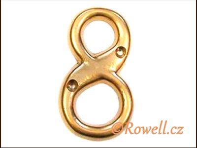 C2s Čísélko zlaté '8' rowell
