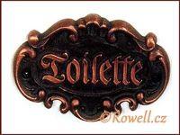 STT   štítek TOILETTE-staroměď wc