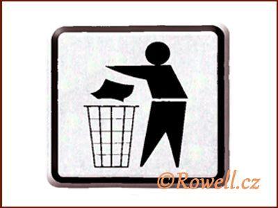 NO cedulka stříbr. 'Odpadky' rowell