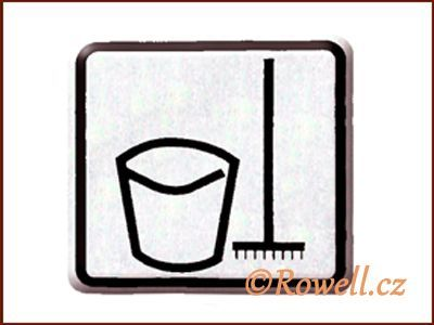 NO cedulka stříbr. 'Úklidová rowell