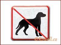 NZ 'Zákaz psů' /stříbrná/
