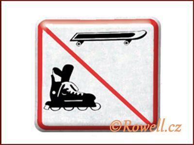 NZ 'Zákaz bruslí' /stříbrná/ rowell