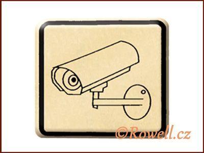 NO cedulka zlatá 'Kamera' rowell