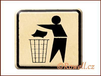 NO cedulka zlatá 'Odpadky' rowell