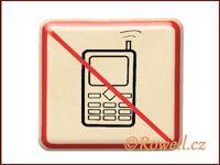 NZ 'Zákaz telefon' /zlatá/ /