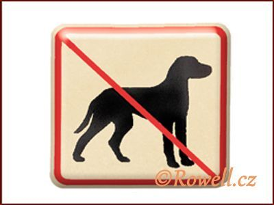 NZ 'Zákaz psů' /zlatá/ rowell