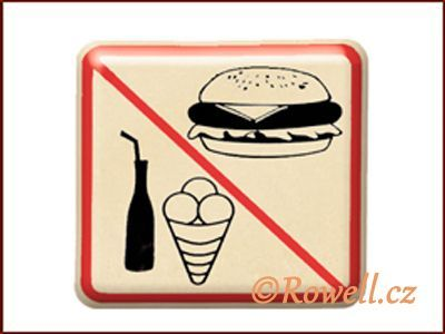 NZ 'Zákaz jídla' /zlatá/ rowell