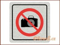 CPP  'Zákaz foto'  /nerez/