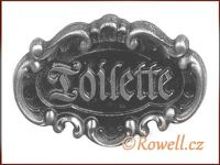 STT   štítek TOILETTE-starostříbro WC