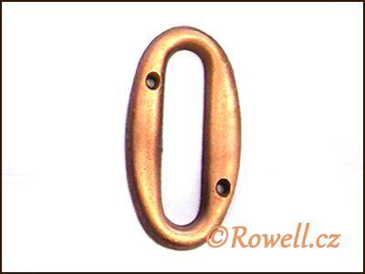 C2s Čísélko staroměď '0' rowell