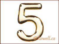 C53  Číslice 53mm zlatá '5'