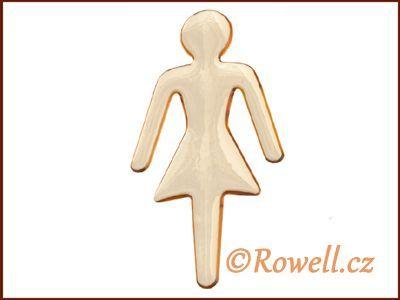 SP1 LOGO panenka zlatá WC rowell