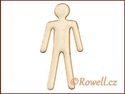 SP2 LOGO panáček zlatý WC rowell