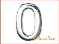 C37  Číslo 37mm stříbr. '0'