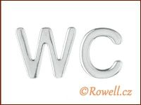 W37   WC 37 mm  LOGO  stříbrné