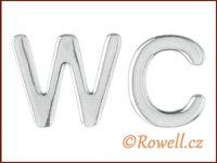 W53   WC 53 mm  LOGO  stříbrné