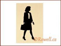 "CP1 zlatá cedulka ""WC dámy"" rowell"