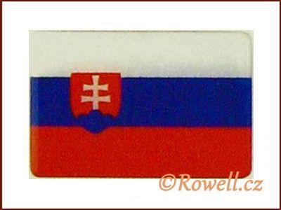 LV2 Vlajka SLO 60x40 mm rowell