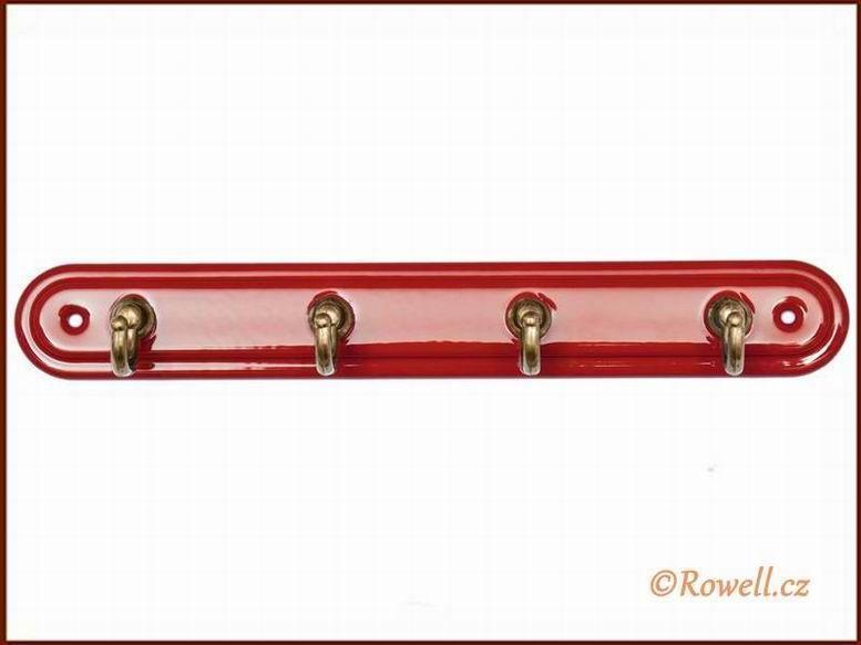 H4 Čtyřháček červený / zlatý rowell