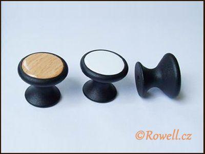 Z28 knopka pr.28 černá/dřevo rowell