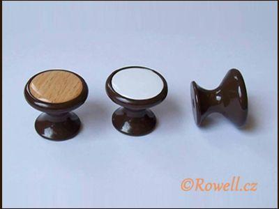 Z28 knopka pr.28 hnědá/dřevo rowell