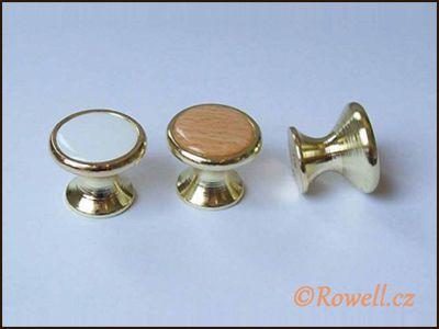 Z28 knopka pr.28 zlatá/bílá rowell