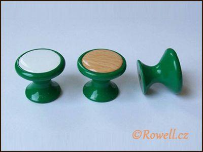 Z28 knopka pr.28 zelená/bílá rowell