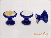 P28 knopka pr.28 modrá/dřevo