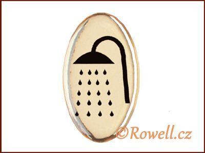 SDP3 Štítek -sprcha zlatá rowell