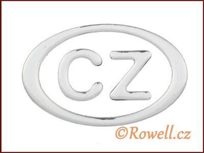 LCZE 90 znak CZ 90mm stříbrný rowell