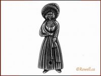 ST1 WC štítek dámy-st.stříbro rowell