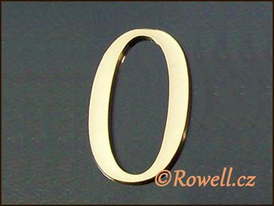 C5 Čísélko zlaté '0' rowell