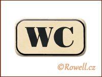 NWC  Štítek WC 70x40m zlatý