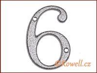 C1 Číslice 80mm k.stř. '6' rowell