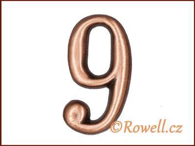 C2 Čísélko staroměď '9' rowell