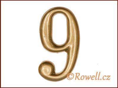C2 Čísélko zlaté '9' rowell