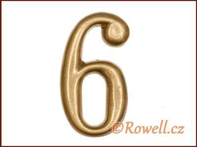 C2 Čísélko zlaté '6' rowell